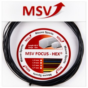 Corda MSV Focus Hex 1.10mm Preta - Set Individual
