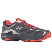 Tênis Yonex Power Cushion Cefiro All Court Grafite Coral e Laranja
